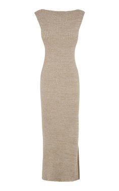 Drew Ribbed Cotton Maxi Dress by Anna Quan Look Fashion, Fashion Outfits, Fashion Design, Dress Drawing, Daily Dress, Wool Dress, Knit Dress, Pattern Fashion, Costume