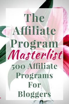 Are you struggling to find affiliate programs in your niche? This database of over 300 affiliate programs in 17 different niches offers a wide range of products and programs to promote so you can increase your affiliate sales. A must have for all affiliates! #affiliatemarketing affiliate pin