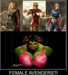 What if it becomes Female Avengers #lol (Check out our TV-BOX ☛http://bit.ly/1fwSRya)  #avengers #fun