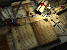book_and_parchment_by_svenart