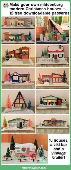 midcentury putz house patterns