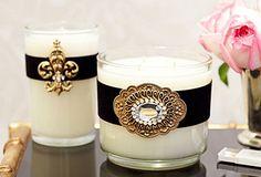 dress up a plain candle