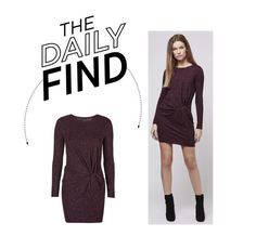 """""""Daily Find: Topshop Knot Front Dress"""" by polyvore-editorial ❤ liked on Polyvore featuring Topshop and DailyFind"""