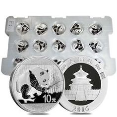 Sheet of 15 - 2016 30 gram Chinese Silver Panda 10 Yuan Fine BU In Capsule Bullion Exchanges - Your Trusted Precious Metals Dealer Buy Coins, Online Shopping Deals, Commemorative Coins, Silver Bars, Gold Coins, Precious Metals, 30th, Chinese, Personalized Items