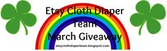 check out the etsy cloth diaper team giveaway and you could win cloth diapers!