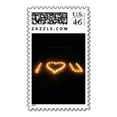 i love u postage stamp