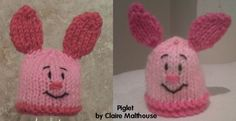 The Big Knit Challenge for Innocent Smoothies Animal Knitting Patterns, Knitting Paterns, Christmas Knitting Patterns, Loom Knitting, Hat Patterns, Crochet Butterfly Free Pattern, Easy Crochet Patterns, Loom Knit Hat, Knitted Hats