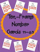 Kindergarten Lifestyle: Ten-Frame Number Cards FREEBIE