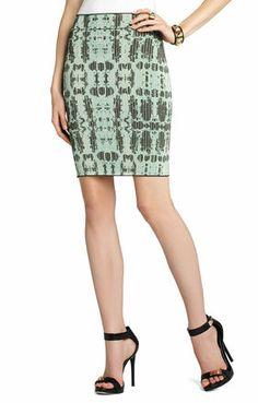 Scarlett Ink-Block Skirt | BCBG