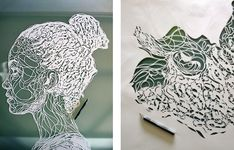 line /contour In addition to background elements, stencils can also be used to depict the main subjects in an artwork, as in these stunning paper stencil portraits by Kris Trappeniers.