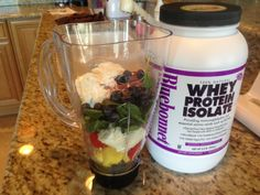 Great meal replacement or pre workout drink!  Organic blueberries, organic strawberries, organic spinach, organic yogurt, bananna, pineapple, coconut milk and a scoop of undenatured whey protein . Dr Michael Lange says post work put drink is simply organic chocolate milk, watermellon and undenatured whey protein. Always take a Fortifeye focus with post work out drink to enhance muscle recovery and muscle endurance.  Www.fortifeye.com