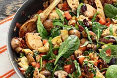 Easy paleo recipe for a super fast and delicious paleo meal with healthy carbs and protein. Use pre-cooked chicken, add the veggies, and you're done!