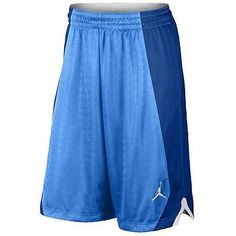 Nike Jordan Flight Knit Short Mens 642240-412 Blue Basketball Shorts Size M