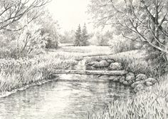 pen and ink lanscapes - Google Search