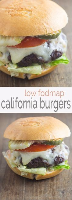 Get your burger fix with this delicious Low Fodmap California Burger recipe!