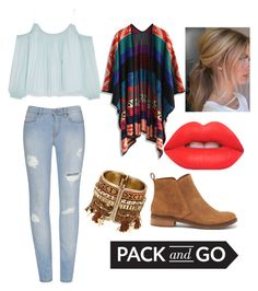"""pack and go Mexico contest"" by orsink ❤ liked on Polyvore featuring Elizabeth and James, Chicwish, Lucky Brand and Lime Crime"