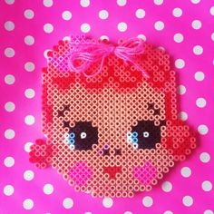 Girl hama beads by KleurigDees