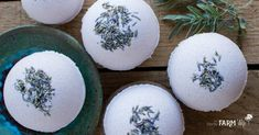 These relaxing DIY lavender bath bombs get their pretty natural color from purple Brazilian clay and sweet scent from pure lavender essential oil. Soap Making Kits, Soap Making Recipes, Natural Cleaning Solutions, Natural Cleaning Products, Lavender Leaves, Bath Kit, Herbs For Health, Diy Shower, Bath Bombs