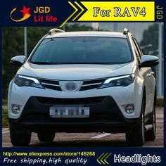 87aac2dac8 High quality ! HID LED headlights headlamps HID Hernia lamp accessory  products case for Toyota RAV4