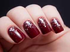 Here is Nicole by OPI Inner Sparkle over OPI Skyfall.