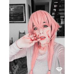 "'s cosplay. - - - - - - - - - - Wait Yuki ! Don't be scary I just want to protect you. Hii so here is my new cosplay pic haha. So here is a psycho blody Yuno I took this today morning so sorry I was too lazy to put the complete wig. btw they have asked me so much where did I bought my yuno wig so I bought it in @circusdoll_store there you can buy amazing cosplay wigs so please go and check put their instgram.  - - - - - - - - - - QOTD- What kind of ""dere"" are you? AOTD- It depends in which…"