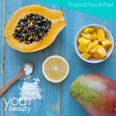 Give your face a dose of anti-aging vitamins with this papaya and mango peel.