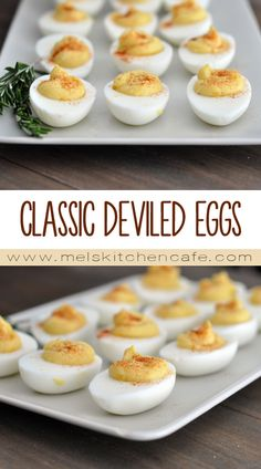This recipe is a slight adaptation on the deviled eggs my mom used to make growing up and they are simple, classic and delicious.