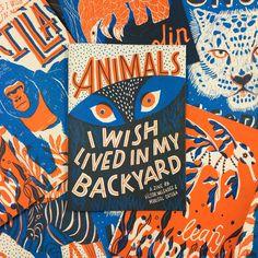 kampagne illustration Image of Animals I Wish Lived in My Backyard Zine Book Design, Cover Design, Design Art, Art Zine, Photocollage, Animals Images, Creative Thinking, Grafik Design, Screen Printing