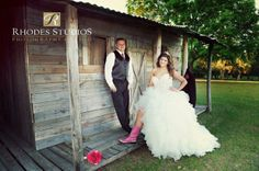 Our bride had to show off a little bit of her cowboy side!  Love this pink cowboy boot photo by Rhodes Studios. www.diamondreceptions.com Orlando Wedding, Rhodes, Receptions, Event Design, Cowboy Boots, Studios, Wedding Planning, Bride, Diamond