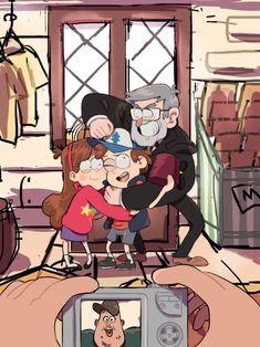"""「say cheeeee…. Gravity Falls Fan Art, Fall Memes, Dipper And Mabel, Never Be Alone, Reverse Falls, Creative Art, Stanley Pines, Fantasy Art, Character Design"