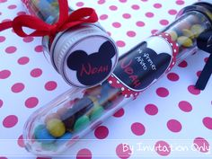 Mickey Mouse Birthday Party  Party Favors  More photos at http://catchmyparty.com/parties/mickey-mouse-party-2