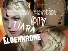DIY Tiara / Elbenkrone / Elven Crown TUTORIAL   MiraLuna - YouTube