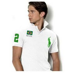 White Ralph Lauren Mens Breathable Cotton Short-sleeved Polo