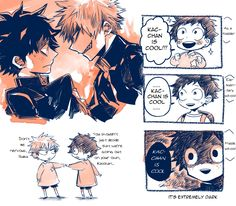 The result of a childhood full of Kacchan. *beats back shipping manifesto threatening to pour out*Source: ろい