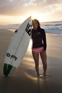Malia Manuel is a current female professional surfer from Kauai, Hawaii. She has a QS ranking of 8th in the world by the Association of Surfing Professionals for women's surfers in 2014 and was ranked 5th on the 2014 ASP World Tour.