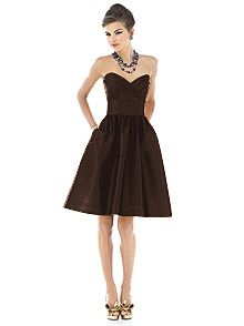 Alfred Sung Style D542 #brown #bridesmaid #dress