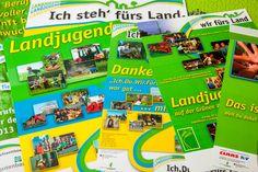 Werbematerialien für den Bund der Deutschen Landjugend