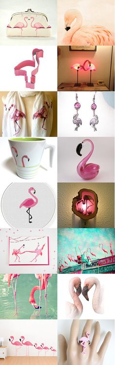 Pink Flamingo by Cheryl Krahn on Etsy--Pinned with TreasuryPin.com