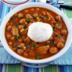 Crockpot Pumpkin Chicken Chili Recipe