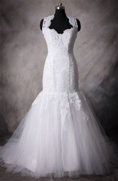 2-Ways Lace Applique Mermaid Wedding Gown  $264