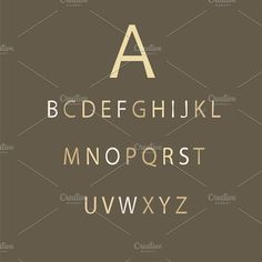 Cream color font flat design VECTOR by TeaGraphicDesign on @creativemarket