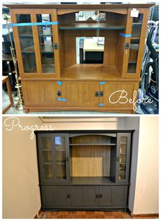 Refinishing & Repurposing an Entertainment Center with Rustoleum Furniture Transformations. Today at the Double Door Ranch.