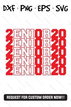 Senior Class of 2020 Senior Class Shirts, Disney Logo, College Shirts, Class Of 2020, Party Props, Family Vacations, Text Design, Cricut Explore