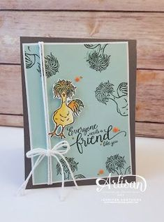 A fun card using the Hey Chick stamp set from the Stampin' Up! Sale-a-bration catalogue - Jennifer Sootkoos