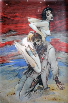 "Bilal, Enki - Sérigraphie - "" Romeo et Juliette"" (1991) - W.B."