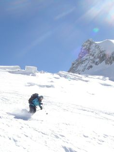 Glacier skiing the Vallee Noir from Helbronner to Chamonix