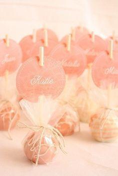 Cake Pop wedding favor idea via Weddingspire