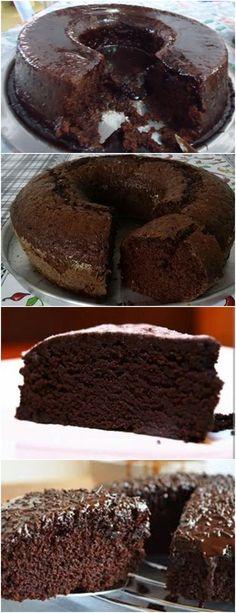 BOLO SEM OVOS DE CHOCOLATE,BEM SIMPLES E PRATICO DE FAZER!! VEJA AQUI>>>Coloque no liquidificador primeiro os ingrediente líquidos e bata Acrescente o restante deixando o fermento para o final #receita#bolo#torta#doce#sobremesa#aniversario#pudim#mousse#pave#Cheesecake#chocolate#confeitaria