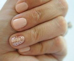 Nails for prom. I love short nails and a nude nail polish Great ready to book your next manicure, Accent Nails, Pedicure, Manicure Ideas, Nail Ideas, Nail Tips, Mani Pedi, Hair And Nails, My Nails, Pink Nails