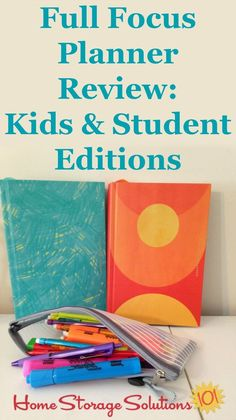Here is my kids' and my review of the Full Focus Planner, for the kids and student editions, as we have been working through our first semester of virtual school {on Home Storage Solutions 101} #FullFocusPlanner #KidsPlanner #StudentPlanner